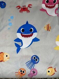 Baby Shark Pink Fong Twin Flat Sheet