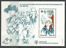 STAMPS-BRAZIL. 1984. Girl Guides Miniature Sheet. SG: MS2098. MNH.