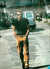 """JON BON JOVI Midnight in Chelsea lyrics Centerfold magazine POSTER  17x11"""""""