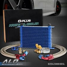 GPLUS 15 ROW Thermostat Adaptor Engine Racing Oil Cooler Kit For CAR/TRUCK
