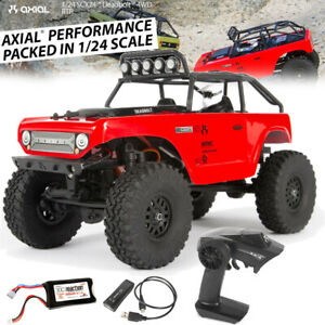 Axial 1/24 SCX24 Deadbolt 4WD Rock Crawler Brushed RTR Red AXI90081T1