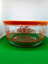 Pyrex 4 Cup Glass Bowl With Cover Halloween Pumpkin Design