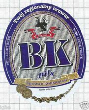 POLAND - Browar Kormoran,Olsztyn - BK Pils bird - beer label C1484