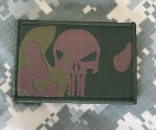 """BuckUp Tactical Morale Patch Hook Punisher Woodland Camo 3x2"""" Patch #31"""