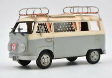 Classic Bus Model W/Surf Boards handmade antique vintage metal craft collection