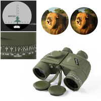 10x50 HD  Optics Night Vision Binoculars With Compass and Rangefinder Telescope