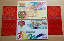 2000 Malaysia Dragon Year, Mini-Sheets on 2 FDC (Kuala Lumpur + Special Cachet)