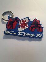 Rare Vintage 1996 Team Disney Atlanta Olympics Gymnastic Rubber Keychain