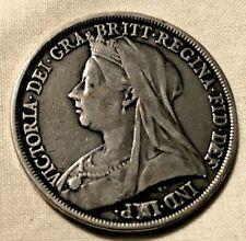 1893 QUEEN VICTORIA SILVER CROWN COIN IN GOOD CONDITION