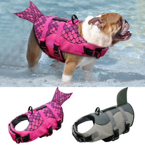 Pet Life Jackets Swimming Safety Vest Preserver Suit for Small Medium Large Dogs