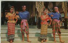 Thailand Siam Bangkok - Phen Dance 1973 chrome postcard