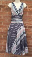 Monsoon Cotton Striped Sleeveless Dresses for Women