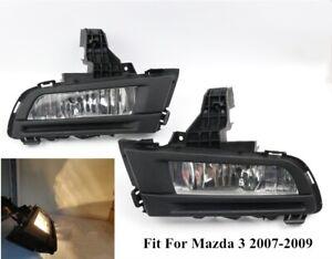Pair of 9006 55W 3000K Front Driving Fog Light Lamp For Mazda 3 2007 2008 2009