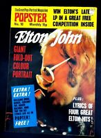 Elton John Popster Giant Foldout Colour Portrait Magazine. Original 1970s Piece.