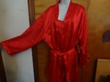 DREAM GIRL RUBY RED 2 PC. NIGHTY SLEEPWEAR SIZE 1X / 2X FITS LIKE XL NEW W/TAGS