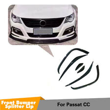 Front Bumper Canard Fins Splitters For VW CC Rline 09-12 Carbon Fiber Refit 2X