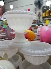 Cheap! NEW! 1 pcs white flowerpot glass cute garden planting tree