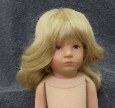 Human Hair Doll Wig Long Hair Wig Color Blonde