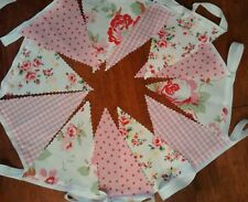 2M Vintage/Shabby Chic Wedding, Baby,Fabric bunting.Pink,White,Floral,Check,Spot