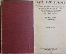 1903 ASIA & EUROPE- TOWNSEND Asiatic Islam India Arabian Arab Arabs Turkey Negro