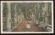 Postcard Mt Clemens MI Park Hotel Pergola 1930's