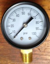 Propane 0-100 Regulator Pressure Gauge, Metal, Pig Cooker, Forge, Smoker