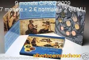 2009 CIPRO 9 monete EURO chypre cyprus zypern EMU UEM
