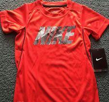 NWT Nike Boys 6 Red/Black/White NIKE Micro Mesh Dri-Fit Shirt 6