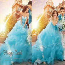 NEW Blue Theme Wedding Dresses Prom Party Quinceanera Dress Pageant Ball Gown