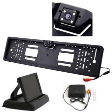 """Rückfahrkamera Kennzeichen Nummernschild mit Nachtsicht 4x IR LED 4,3"""" Monitor"""