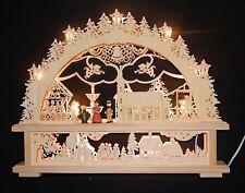 LED Holz Fensterdekoration Weihnachtsdekoration Stimmungslicht Lampe Kerze Licht