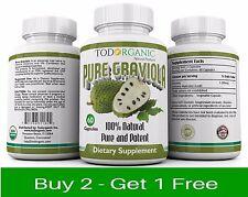 NEW Graviola / Guanábana Capsulas Suplemento 100% Natural - Anti-cancerigeno
