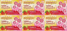 6 Pack Emergen C 1000 mg Vitamin C Flavored Fizzy Drink 30 Pack Raspberry 30 Ea