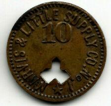Bulger PA R-8 coal token - Marvis & Little Supply Co No.1 - 10¢ in Mdse - Penn