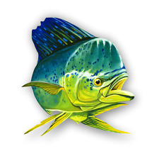 Mahi-Mahi Dolphinfish Car Truck Laptop Vinyl Sticker Window Decal