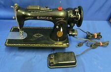 Vintage Singer Sewing Machine Model 15K w/ Foot Pedal Serial Ah791140