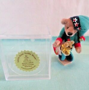 "Deb Canham Little Gem CHRISTOPHER Christmas Jester 3"" Miniature Bear"