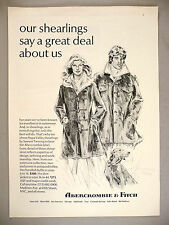 Abercrombie & Fitch PRINT AD - 1977 ~ shearlings outerwear