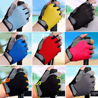 Breathable Half Finger Bike Gloves Anti Skid Gel Padded Sports Cycling Gloves.