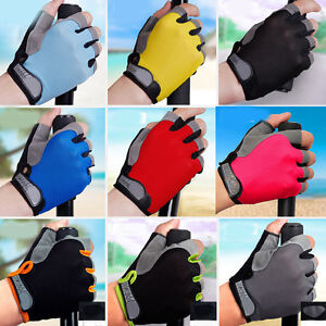 Breathable Antiskid Cycling Mountain Motor Bicycle Sport Gel Half Finger Gloves