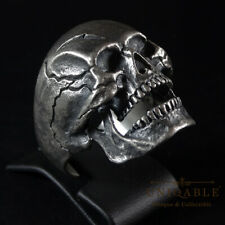 Biker Sterling Silver Harley Skull Ring Davidson Size Man Handmade by UNIQABLE