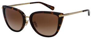 Coach Sunglasses HC 8276 512013 56 Dark Tortoise | Brown Gradient Lens