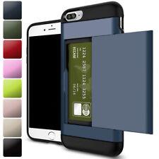 Shockproof Wallet Credit Card Pocket Holder Case Cover For iPhone X 8 7 6s Plus