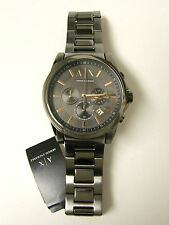 (M) ARMANI EXCHANGE BANKS GREY ION PLATED CHRONOGRAPH WATCH AX2086 NEW WITH TAG