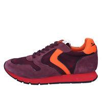 Chaussures Hommes VOILE BLANCHE 40 Baskets Orange Violet en Daim AB692-C