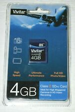 VIVITAR 4 GB CLASS 6 SDHC CARD FOR HIGH MEGAPIXEL CAMERAS HD VIDEO RECORDING