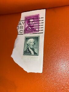 Rare George Washington 1 cent stamp along with Lincoln 4 cent stamp