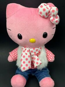 """Build A Bear Workshop Pink Hello Kitty Smallfry 9"""" Stuffed Plush with Outfit"""