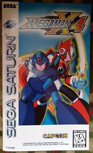 Original Capcom Mega Man X4 instruction manual booklet MegaMan Sega Saturn MMX