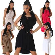 Ärmellose Damenkleider mit Asymmetrisch für Clubwear und Knielang